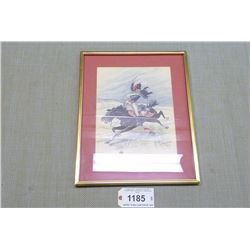 FRAMED PRINT  TROOPER OF THE 10TH HUSSARS SPAIN 1808 PRINCE OF WALES OWN ROYAL