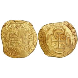 "Mexico City, Mexico, cob 8 escudos, 1714J, ""GRAT"" variety (rare), encapsulated NGC MS 63, from the 1"
