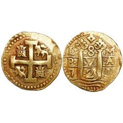 Lima, Peru, cob 8 escudos, 1724/3M.