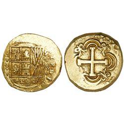 Bogota, Colombia, cob 8 escudos, (1753)S, F-S to left, 8-S to right, rare.