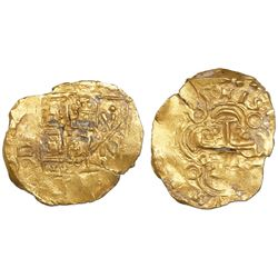 Bogota, Colombia, cob 2 escudos, 1705, no assayer (Arce), from the 1715 Fleet.