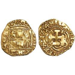 Bogota, Colombia, cob 2 escudos, 1734(M).