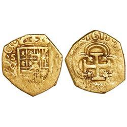 Seville, Spain, cob 1 escudo, 1611V.