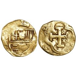 Seville, Spain, cob 4 escudos, Philip IV, assayer A (early 1660s), rare.