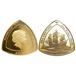 Bermuda, proof 30 dollars, Elizabeth II, 2006, Sea Venture, encapsulated NGC GEM PROOF / ONE OF FIRS