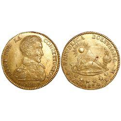 Potosi, Bolivia, 2 scudos, 1834LM, rare.