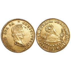 Potosi, Bolivia, 1 scudo, 1855MJ.