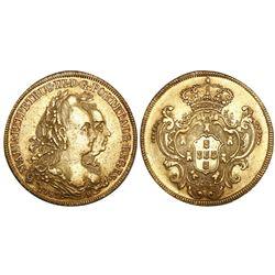 Brazil (Rio mint), 6400 reis, Maria I and Pedro III, 1782-R.