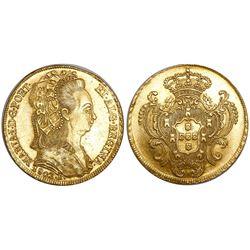 Brazil (Rio mint), 6400 reis, Maria I, 1802-R.