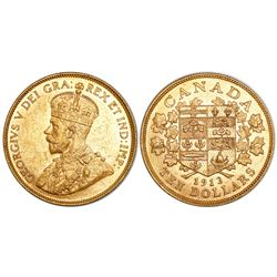 Canada, 10 dollars, George V, 1913.