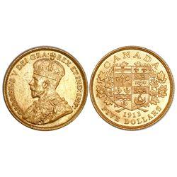 Canada, 5 dollars, George V, 1913.