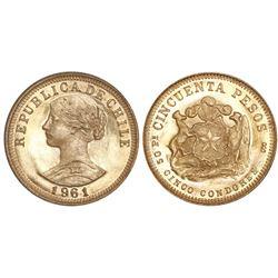 Santiago, Chile, 50 pesos, 1961.