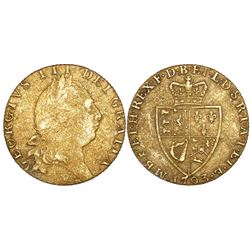 "Great Britain (London, England), ""spade"" guinea, George III, 1793, very rare as from the Piedmont (1"