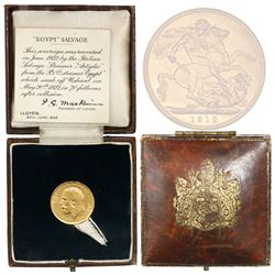 Great Britain (London, England), sovereign, George V, 1912, from the Egypt (1922), in original Lloyd