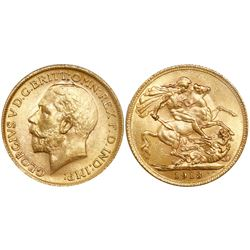 Great Britain (London, England), sovereign, George V, 1913.