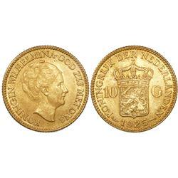 Netherlands, 10 gulden, Wilhelmina, 1925.