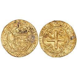 Lisbon, Portugal, cruzado, Afonso V (1438-81, struck 1457-81), legends CRVZATVS … REGIS / ADIVTORIVM