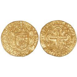 Lisbon, Portugal, cruzado, Afonso V (1438-81, struck 1457-81), legends CRVTVS ALFONSVS QVINTI REX P