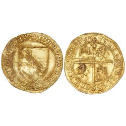 Seville, Spain (Castile and Leon), dobla de la banda, Juan II (1406-1474), mintmark S at top of cros