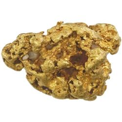 Natural gold nugget, 35.27 grams, from Alaska.