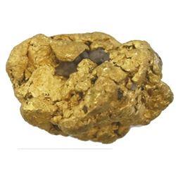 Natural gold nugget, 23.84 grams, from Alaska.