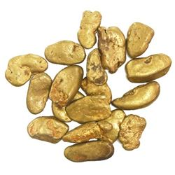 Lot of 18 natural gold nuggets from rivers near Santo Domingo, Dominican Republic, 37.54 grams total