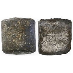 Contraband silver  half cylinder  ingot, 567 grams, from the 1715 Fleet.