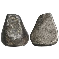 "Small, contraband silver ""wedge"" ingot, 269 grams, from the 1715 Fleet."
