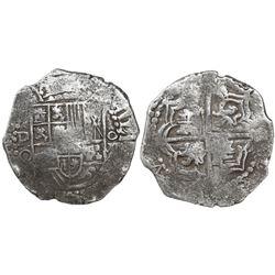 Potosi, Bolivia, cob 8 reales, Philip III, assayer Q/C (rare), Grade 1, certificate missing.