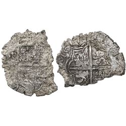 Potosi, Bolivia, cob 8 reales, 1617(M), Grade 4.