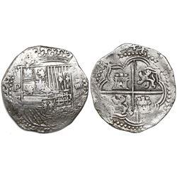 Potosi, Bolivia, cob 4 reales, Philip II, assayer B (3rd period), Grade 1, certificate missing.
