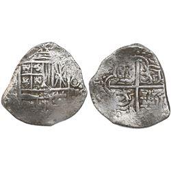 Potosi, Bolivia, cob 4 reales, Philip III, assayer T, Grade-1 quality but no Grade on certificate.