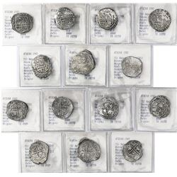 Lot of 7 Potosi, Bolivia, cob 2 reales, Philip III, various assayers (where visible), all Grade-1 or