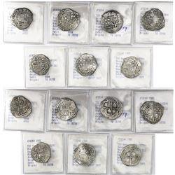 Lot of 7 Potosi, Bolivia, cob 2 reales, Philip III, various assayers (where visible), all Grade-1 or