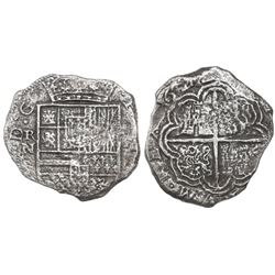 Cartagena, Colombia, cob 8 reales, 1622, assayer not visible (A to right), mintmark RN to left, no p