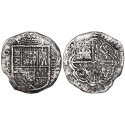 Cartagena, Colombia, cob 4 reales, (162)2, assayer A above denomination IIII to right, mintmark RN t