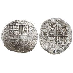 Potosi, Bolivia, cob 8 reales, 16(1)9T, Grade 1.