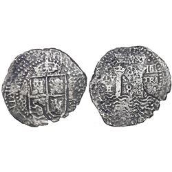 Potosi, Bolivia, cob 8 reales, (1652)E transitional Type IV, ex-Mastalir collection.