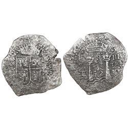Potosi, Bolivia, cob 8 reales, 1652E transitional Type V, ex-Mastalir collection.