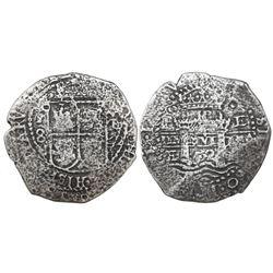 Potosi, Bolivia, cob 8 reales, 1652E transitional Type VII, ex-Mastalir collection.