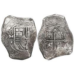 Mexico City, Mexico, cob 8 reales, (16)55P.