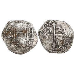Mexico City, Mexico, cob 4 reales, 1655P.