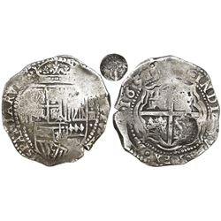 Potosi, Bolivia, cob 8 reales, 1651E, Latin 5, with unidentified countermark on cross.