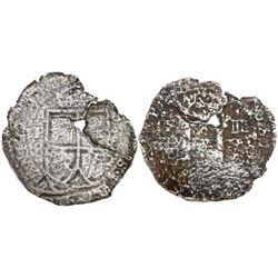 Potosi, Bolivia, cob 8 reales, (16)52E transitional Type III, rare, ex-Haskins, ex-Mastalir collecti