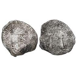 Potosi, Bolivia, cob 8 reales, (16)52E transitional Type VIII/A, rare, ex-Haskins, ex-Mastalir colle