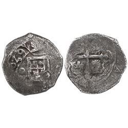 Mexico City, Mexico, cob 2 reales, (1)639(P), rare.