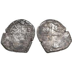 Mexico City, Mexico, cob 2 reales, 1712J, rare.