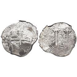 Potosi, Bolivia, cob 4 reales, 1681V.