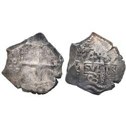 Potosi, Bolivia, cob 4 reales, 1703Y.