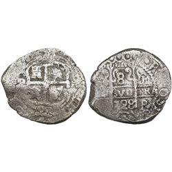 Potosi, Bolivia, cob 8 reales, 1728M.